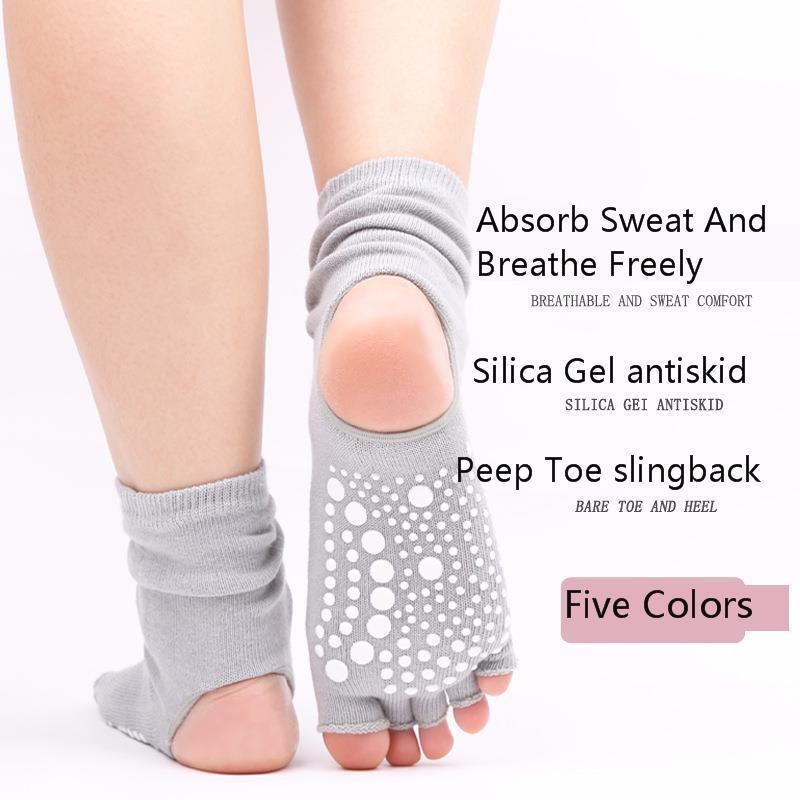 Women Yoga Socks Gym Fitness Dancing Female Daily Wear Exercising Keep Warm Latin Dance Long Anti slip Breathe Walking Yoga Sock in Yoga Socks from Sports Entertainment