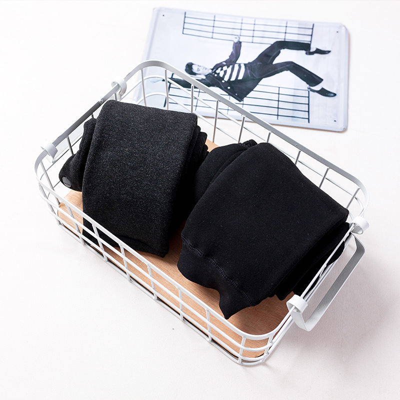 Jinjin.QC 2019 Fashion Men Winter Warm Leggings Winter Pants Men Solid Color High Pressure Fleece Elastic Waist Drop Shipping