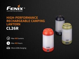 Image 2 - 2019 novo fenix cl26r micro usb recarregável 18650 anti reflexo acampamento lanterna equipamento lâmpada max 400lm