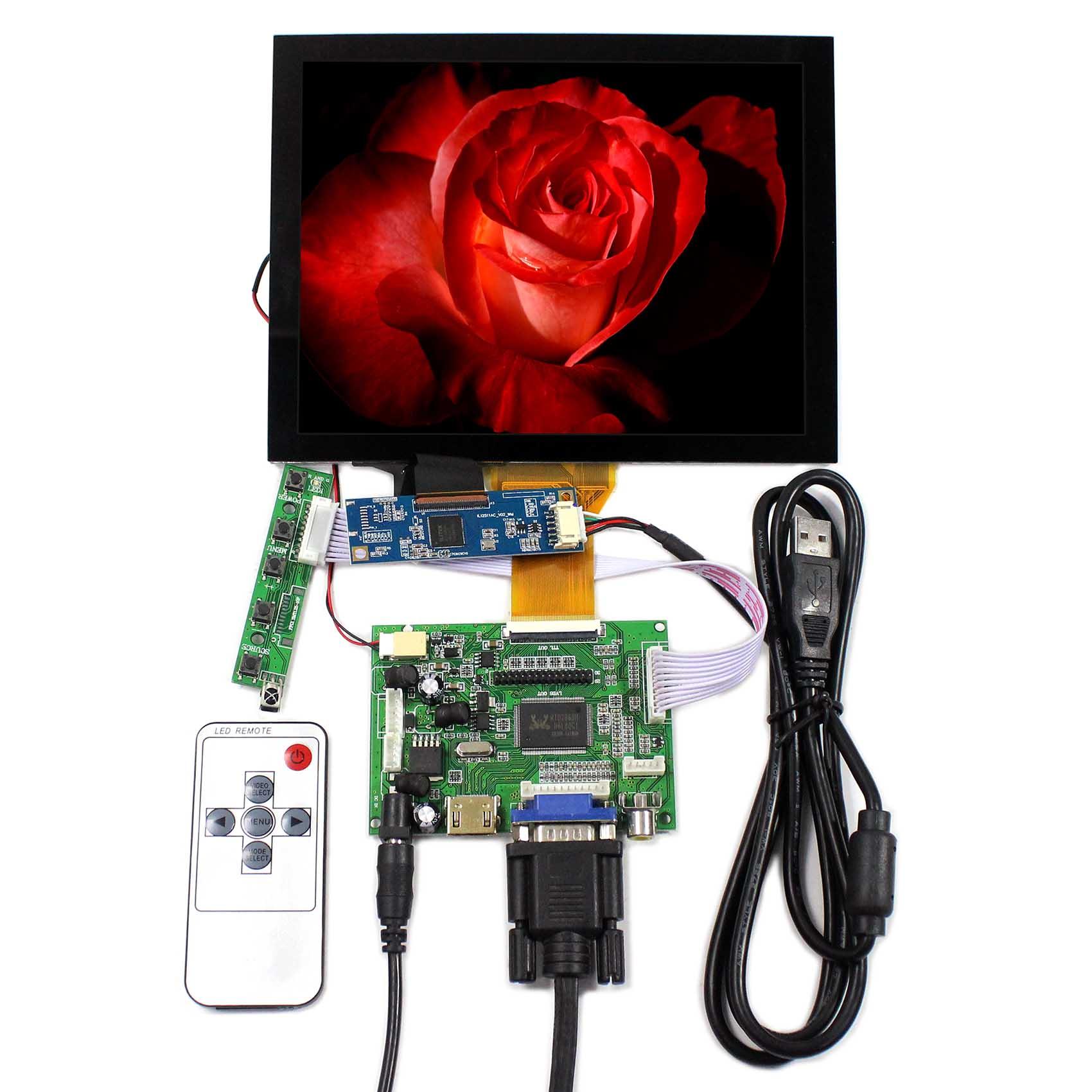 HDMI VGA 2AV LCD Controller Board Capacitive Touch Panel VS-TY2662-V1 8inch LCD Screen EJ080NA-05A Backlight WLED VS080TC-A1HDMI VGA 2AV LCD Controller Board Capacitive Touch Panel VS-TY2662-V1 8inch LCD Screen EJ080NA-05A Backlight WLED VS080TC-A1
