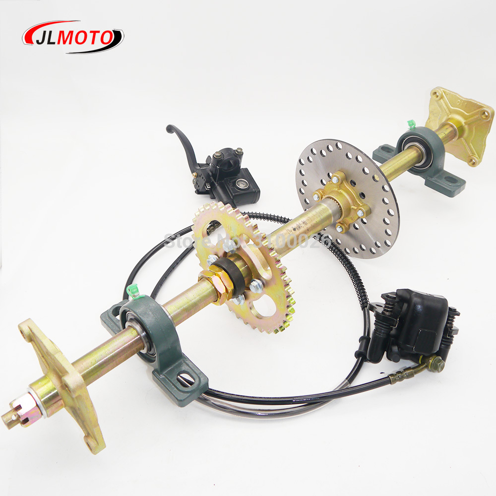 710mm M8 4 Wheel Hub Rear Axle Assy With 428 37T Sprocket 160mm Disc Brake Fit