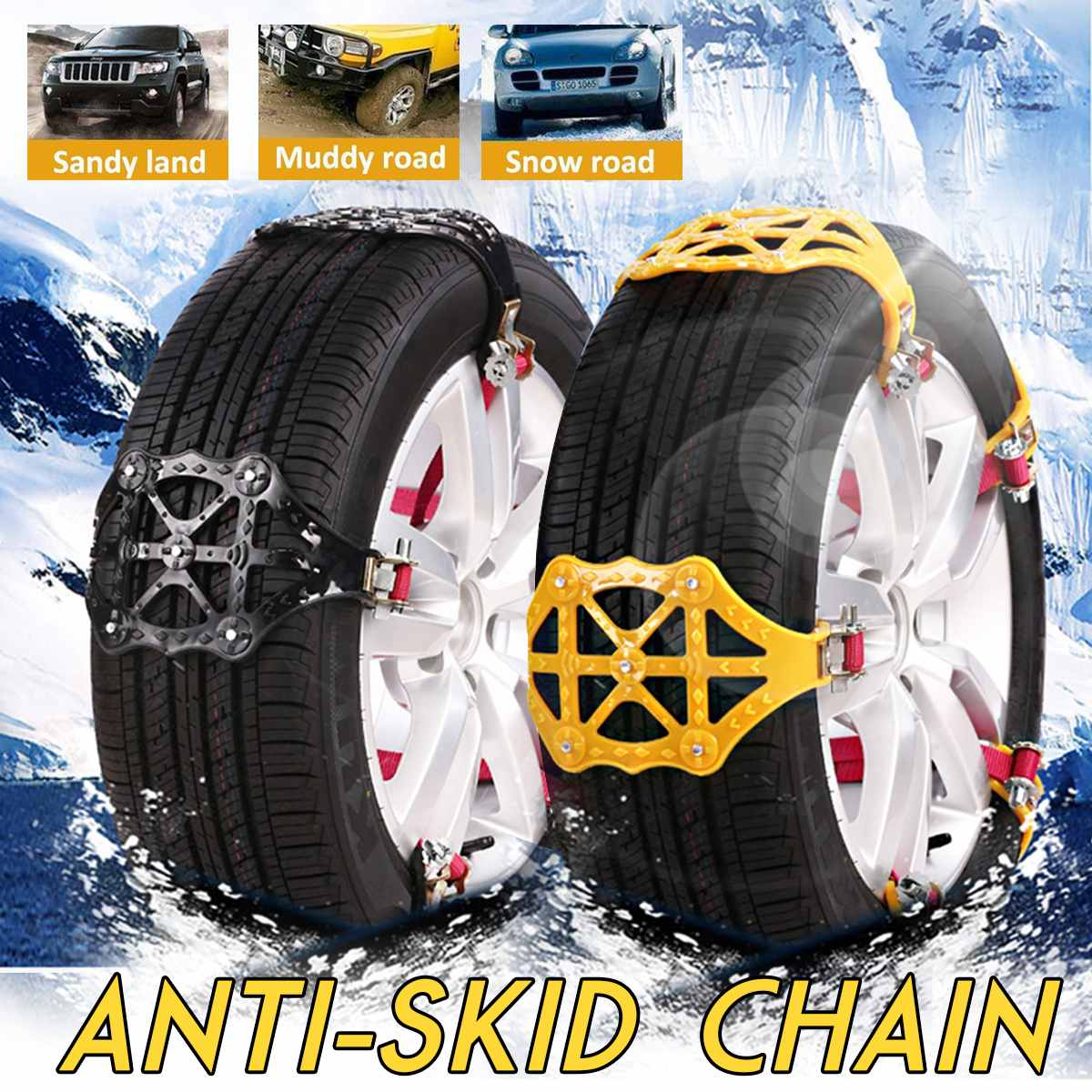 US $6 79 37% OFF Winter Car Tire Anti Skip Snow Chains Cars Trucks Wheels  Tyres Snow Sand Mud Roadway Tyre Safety Anti slip Chain Belts-in Snow  Chains