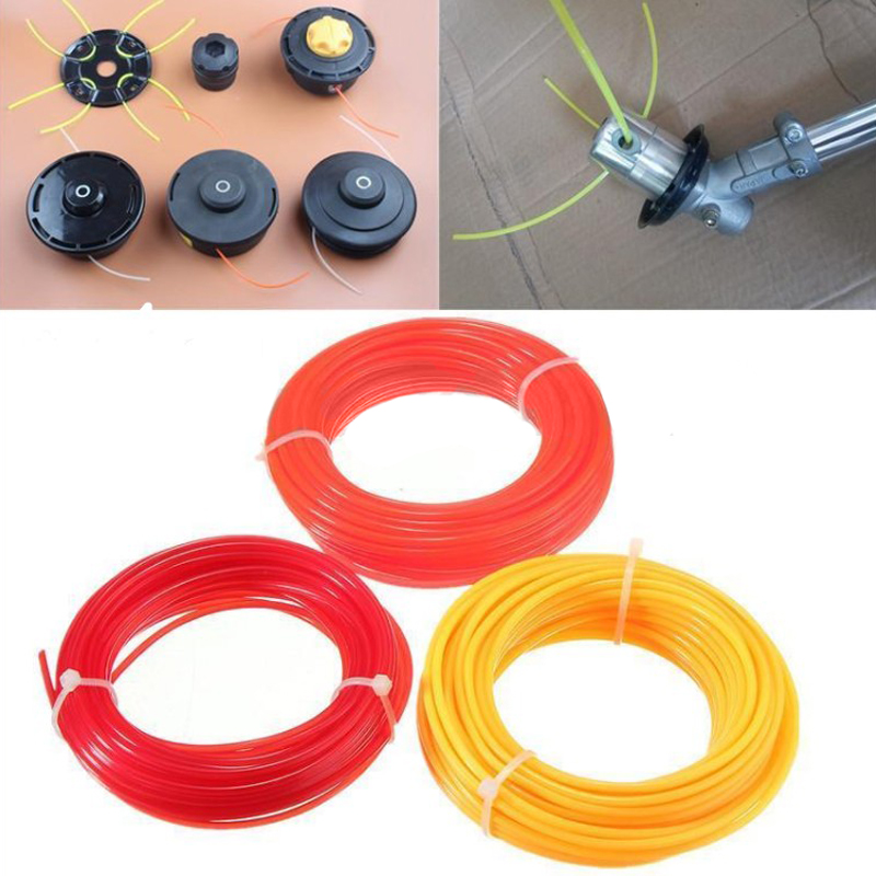 DWZ 15m Strimmer Line Spool Nylon Cord Wire String Grass Trimmer For Grass Cutter