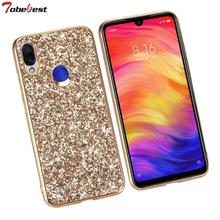 Fashion Glitter Case For Xiaomi Redmi Note 7 Phone Cases Shinning Bling Sequins Back Cover for Note7