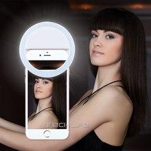 Duszake Selfie مصباح مصمم على شكل حلقة للهاتف التكميلية الإضاءة ليلة الظلام Selfie تعزيز لفون زائد سامسونج الهاتف الذكي