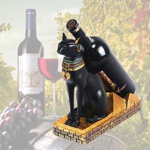 Image 5 - בציר מעשי Creative אופנה חתול מצרי יין מתלה יין מחזיק בקבוק יין מדף בית קישוטים לבית מטבח