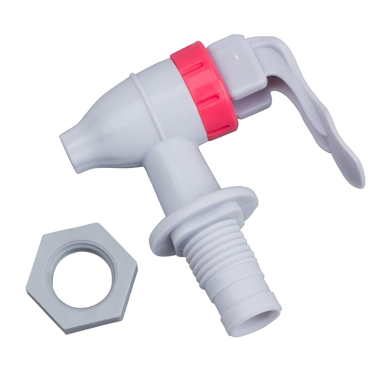 حار دفع نوع البلاستيك استبدال موزع مياه الحنفية صنبور أبيض أحمر