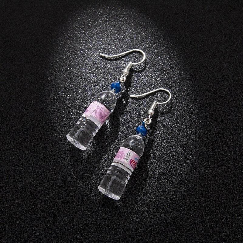 Personlig mineralvand flasker øreringe ølflasker Søde enkle og elegante øreringe to 4 stilarter farver se Fashion øre