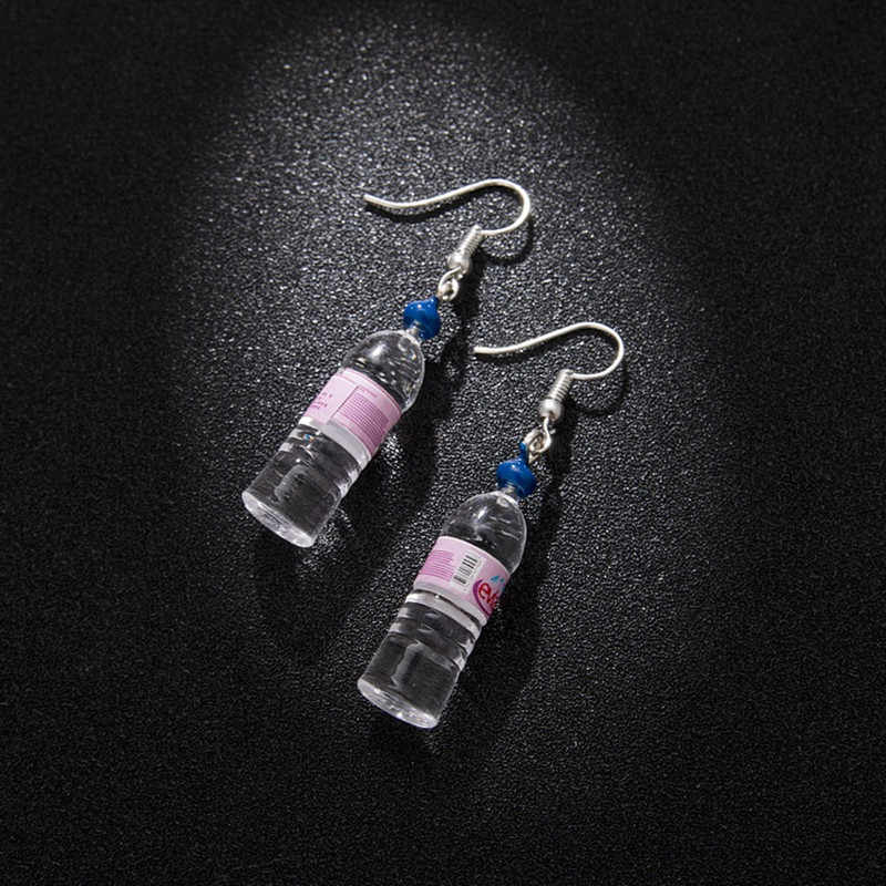 Personalized mineral water bottles earring beer bottles cute simple and elegant earring two style 4 colors fashion ear