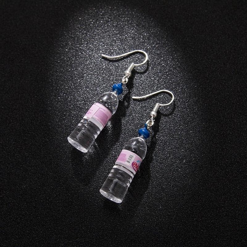 Персонализированные бутылки минеральной воды серьги пивные бутылки Милые простые и элегантные серьги два стиля 4 вида цветов Мода уха