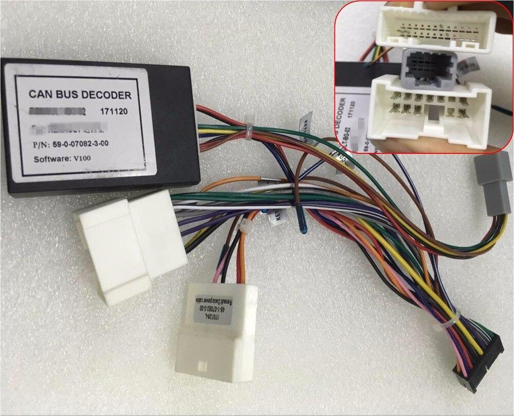 Электропроводка Can bus разъем адаптера для Safetyleader бренд Renault Clio Duster захвата автомобильный мультимедийный плеер