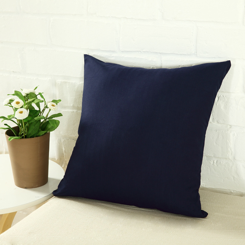 Candy Color Cushion Cover Simple Solid Color Throw Pillow Case Black And White Decorative Pillowcase Car Cushion Cover