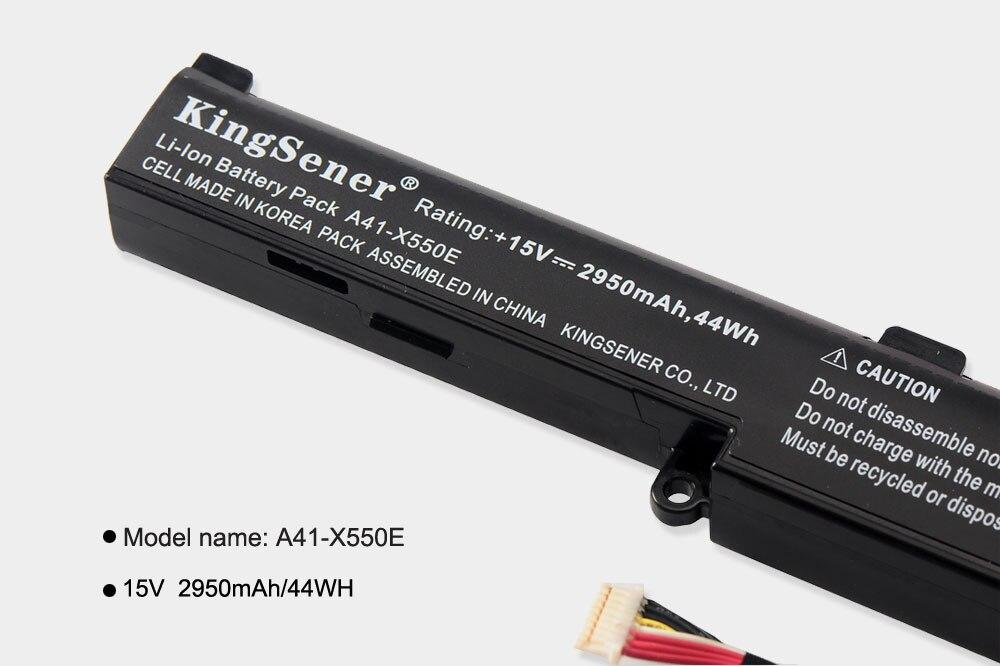 KingSener Corée Portable A41-X550E batterie d'ordinateur portable pour asus X450 X450E X450J X450JF X751M X751MA X751L X750JA A450J A450JF A450E - 4