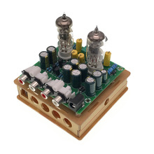 Mais novo 6J1 tube preamp amplificador bordo Pré-amplificador de Headphone amp 6J1 válvula preamp bile tampão diy kits (6J1 tubo preamp amplificador b