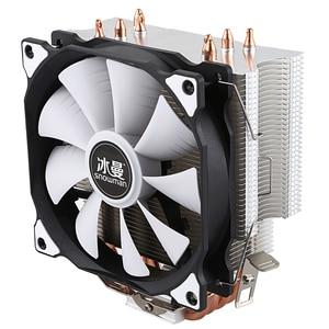 Image 3 - PUPAZZO DI NEVE CPU Cooler Master 4 tubi di Calore In Rame Puro freeze Torre di Raffreddamento Sistema di Ventola di Raffreddamento della CPU con PWM Ventole