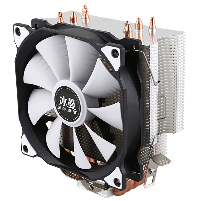 SNOWMAN CPU Cooler Master 4 Pure Copper Heat-pipes freeze Tower Cooling System CPU Cooling Fan with PWM Fans 2