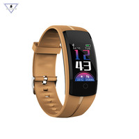 QS100 Smart Fitness Bracelet Watch Color LCD Activity Tracker Heart Rate Blood Pressure Monitor Wristband For Android IOS Phone