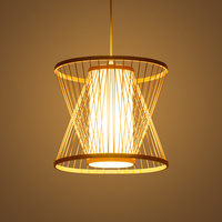 Southeast Asia LED Pendant Lamps Bamboo Pendant Lights Living Room Hanging Lamp Home Decor Suspension Luminaire Kitchen Fixtures