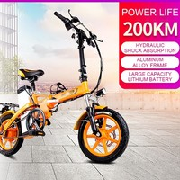 Special purpose Electric Power Bicycle Foldable Electric Vehicle 14 Inch Adult Mini A Storage Battery Car Lithium Battery