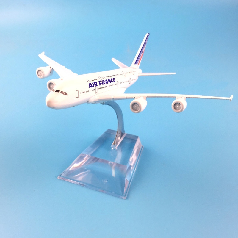Airplane Model 16cm Air France Plane Aircraft Model Diecast Metal Model Aeroplane 1:400 Airbus 380 Plane Airplane Model Toy