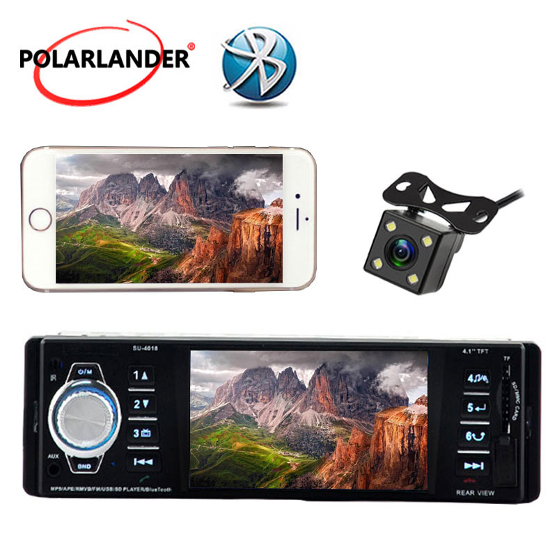 3.6'' inch big TFT screen Car radio bluetooth player MP3 MP4 MP5 1080P movie 12V Car Audio video stereo FM/USB/SD/MMC 1 Din size image