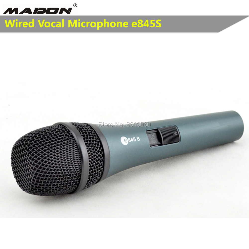 Free Shipping, E845S Wired Dynamic Cardioid Professional Vocal Microphone , Wired Sennheisertype Vocal Microphone