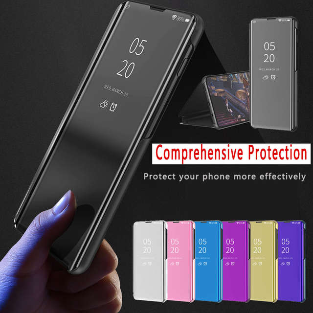 abc71a2670f Online Shop Smart Mirror Flip Phone Case For Samsung Galaxy S10 S10e S10  plus S9 Clear View Cover For Samsung M30 M20 M10 A50 A30 A10 Case