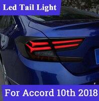 1 компл. светодиодный фонарь для Honda 2018 Accord 10th задние фонари чехол светодиодный чехол Accord задний фонарь задний багажная лампа крышка стайлин