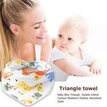 Bibs Adjustable Reusable Baby Infant Newborn Baby Saliva Towel Burp Cotton Washable Triangle Bibs Burp Cartoon Printed Tod New(China)