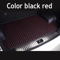ZHAOYANHUA Custom fit High side car Trunk mats for Infiniti ESQ G25 G35 G37 M25 M35 M37 M56 Durable Boot Carpets
