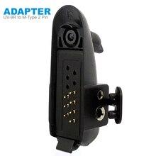 Радио Baofeng UV-9R Plus Talkie-Walkie адаптер для M-type 2 Pin Подходит для Motoluola GP88 Walkie Talkie гарнитура микрофон Аксессуары