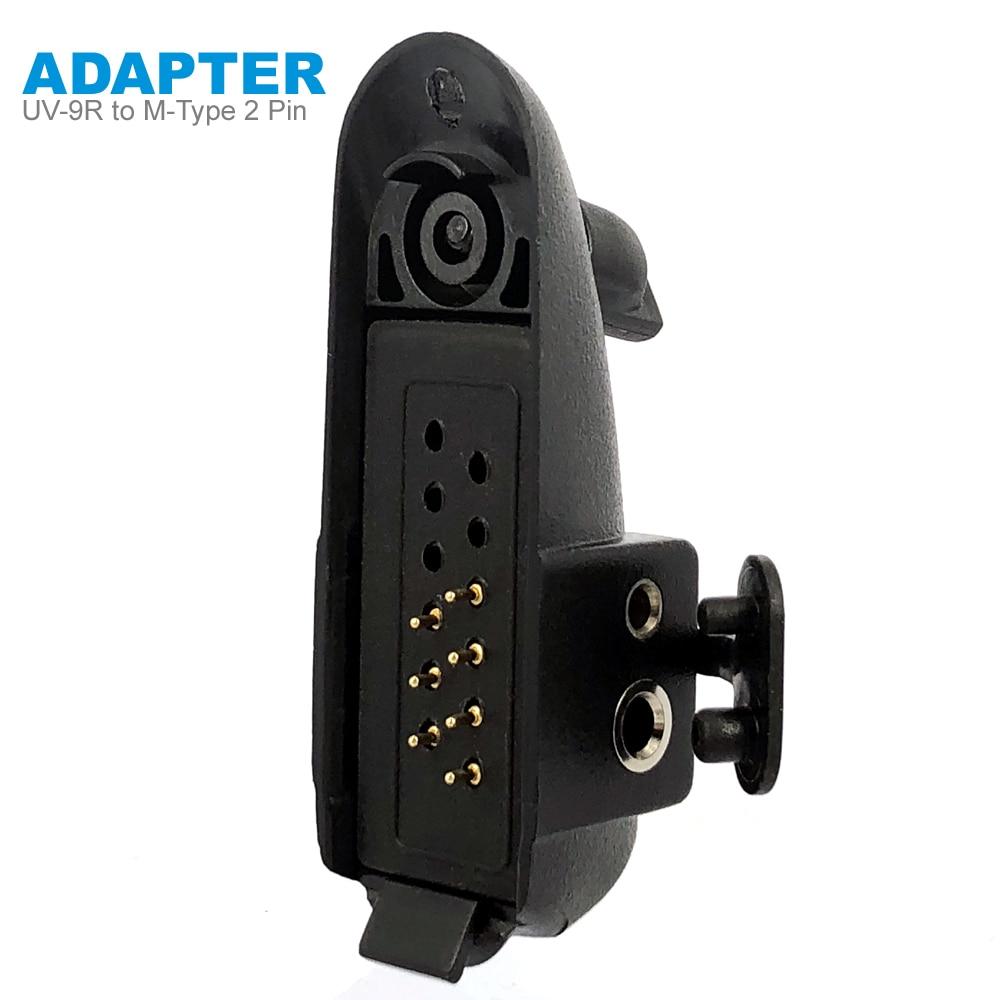 Radio Baofeng UV-9R Plus Talkie-Walkie Adapter To M-type 2 Pin Suitable For Motoluola GP88 Walkie Talkie Headset Mic Accessories