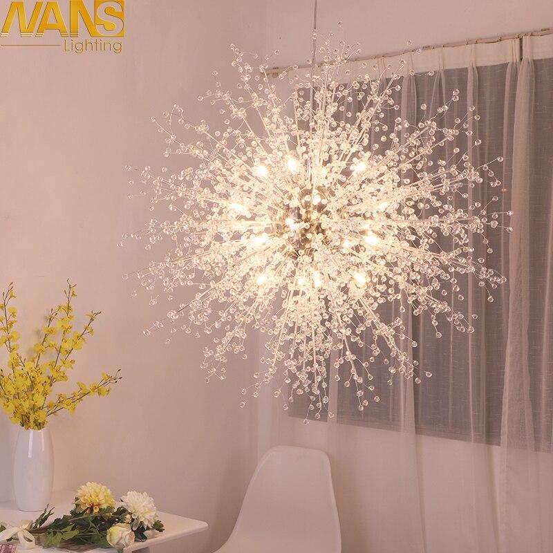 NANS moderne G4 LED Lustre acrylique lumières lampe pour salle à manger salon lampadario moderno Lustre Lustre éclairage