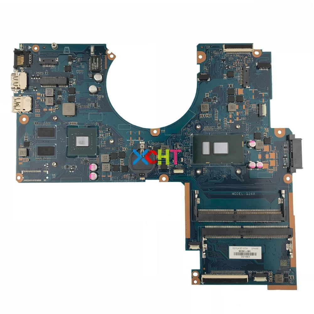 901581 001 901581 601 DAG34AMB6D0 w 940MX 4GB i7 7500U CPU for HP Pavilion Notebook 15 au Series PC Laptop Motherboard Mainboard in Laptop Motherboard from Computer Office