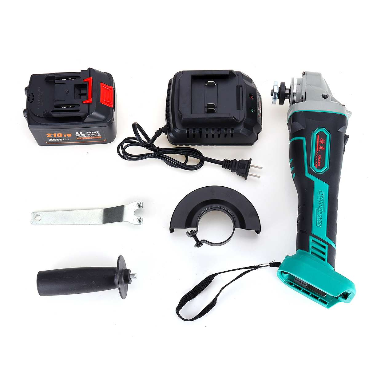 Rechargeable 218TV 29800mah 600W Wireless Electric Angle Grinder Power Cutting Tool Li ion Batter Bracket Polishing Grinder