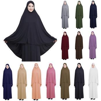 d4a510e972 Las mujeres musulmanas del Hijab largo Maxi vestido oración de Jilbab  islámica ropa Abaya árabe culto Ramadán trajes Maxi vestido