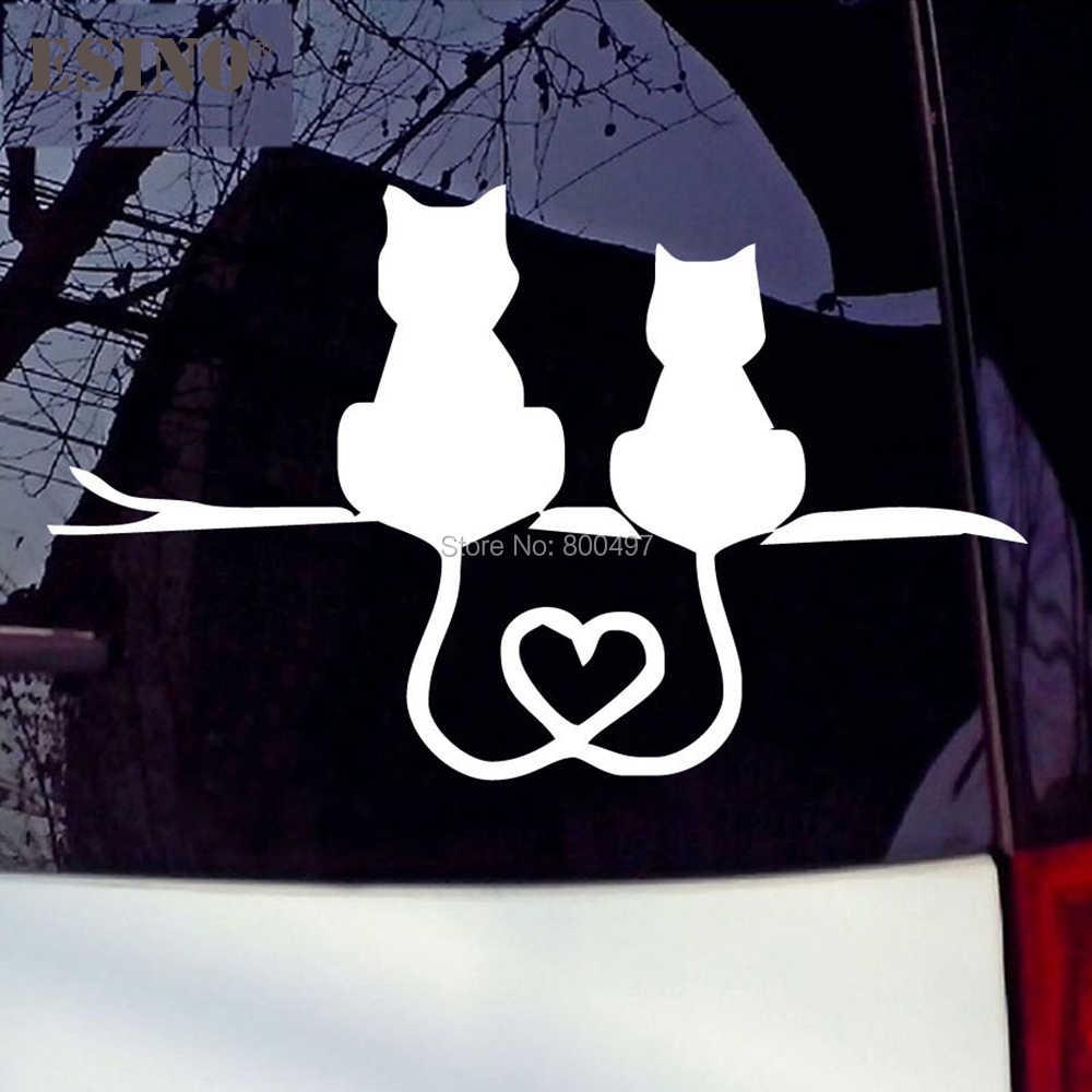 Thiết Kế mới Mèo Đáng Yêu Trái Tim Phản Quang Sáng Tạo Tự Động Decal Hoạt Hình Dán Ốp Lưng Cơ Thể Decal Sáng Tạo Hoa Văn Vincy