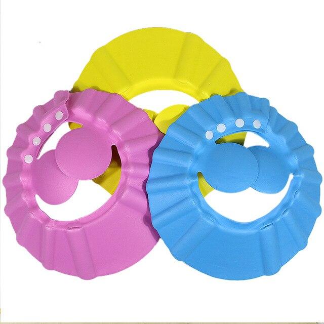 93010ca42dd Baby Shower Caps Shampoo EVA Cap Wash Hair Kids Bath Visor Hats Adjustable Waterproof  Ear Protection Eye Children Hats Infant
