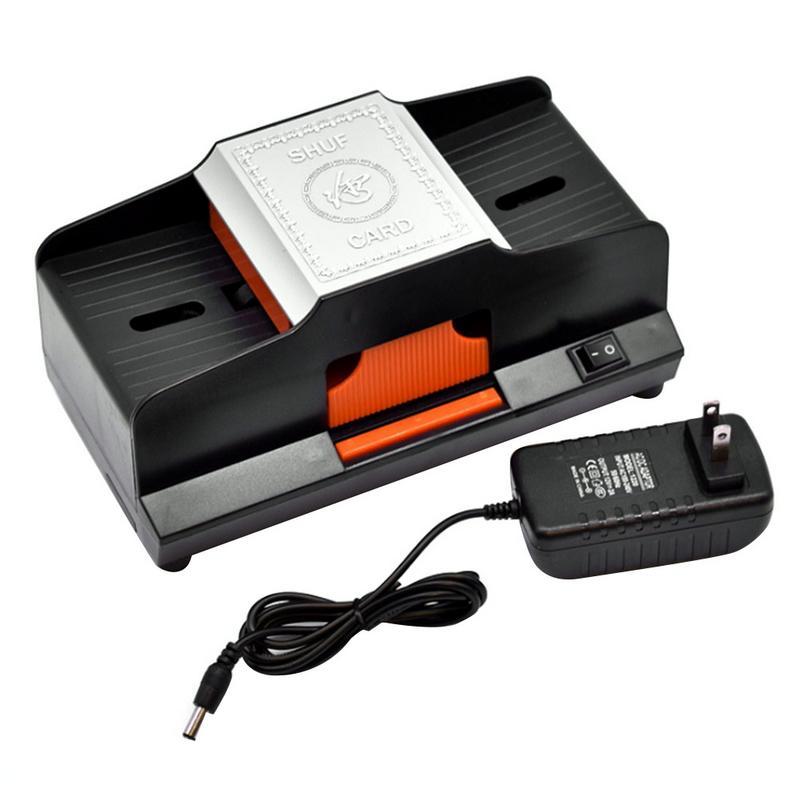 Professionnel Shuffler de Carte 1 2 Plate Formes Automatique À Grande Vitesse En Plastique Machine Brouillante Jeux De Cartes Shuffler