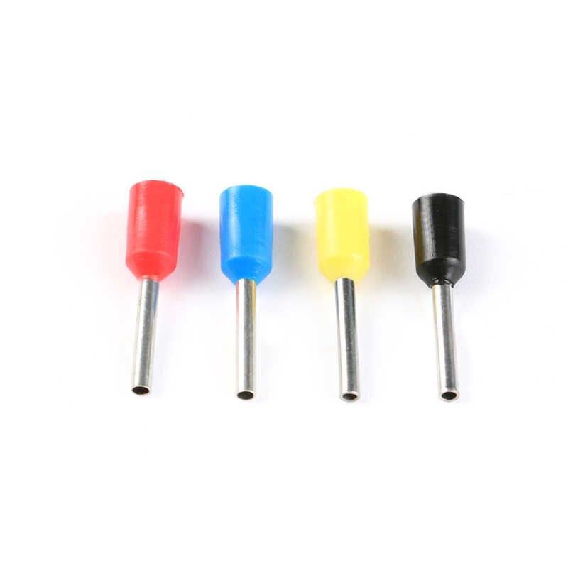 100 шт/лот E1508 набор наконечников для бутлейса Cooper набор проводов медный обжимной соединитель изолированный шнур контактный концевой терминал 5 цветов E1508