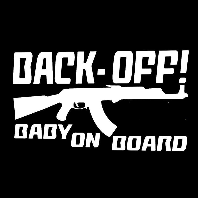 Back Off Baby On Board Cute And Interesting Fashion Car Truck Window Sticker Decal in Car Stickers from Automobiles Motorcycles