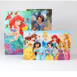 Image 3 - ขายร้อน Disney Frozen รถ Disney 60 ชิ้นเล็กชิ้นปริศนาของเล่นเด็กจิ๊กซอว์ไม้เด็กของเล่นเพื่อการศึกษาเด็ก