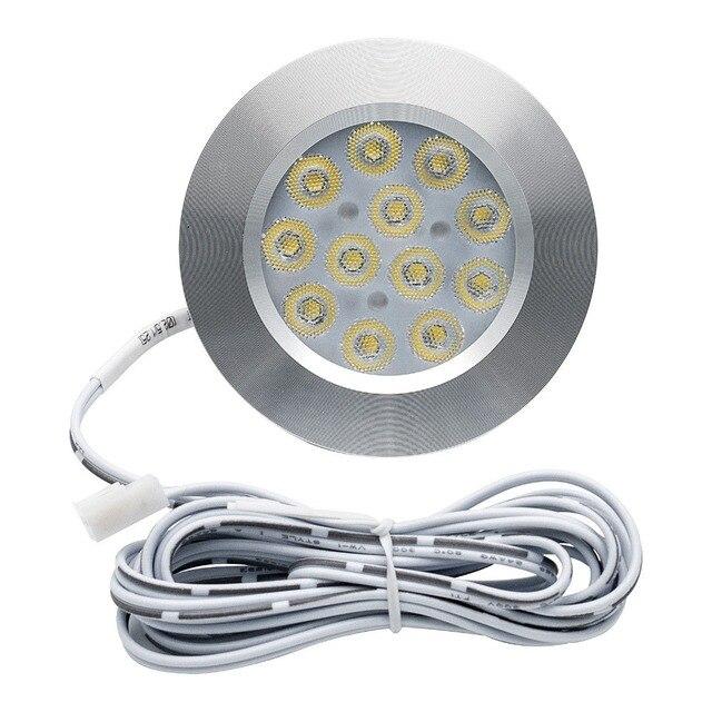 8 個 12V 3 ワット LED 天井屋根ライト RV キャンピングカーキャビン下キャビネットドームランプホワイト 3000 18K