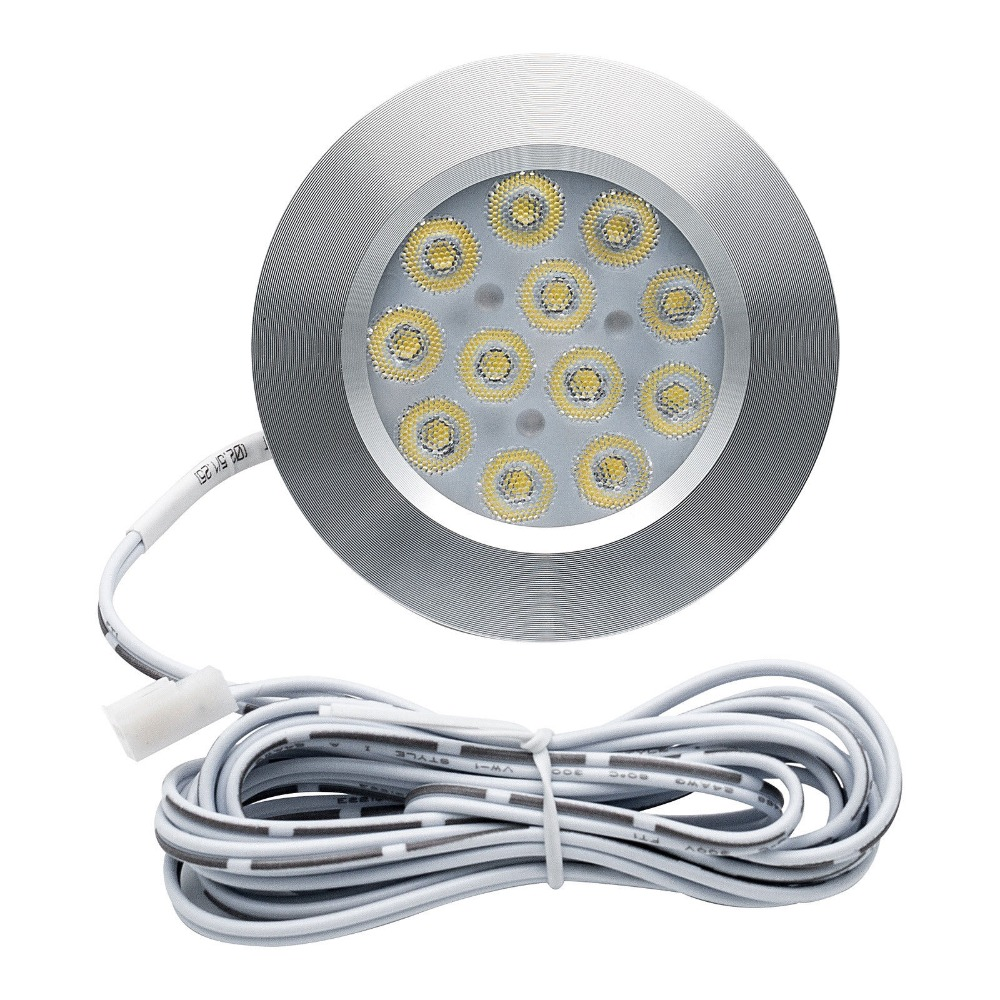 8PCS 12V 3W LED Ceiling Roof Lights RV Camper Cabin Under Cabinet Dome Lamp White Lights 3000K