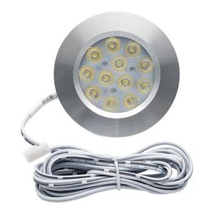 Image 1 - 8PCS 12V 3W LED Ceiling Roof Lights RV Camper Cabin Under Cabinet Dome Lamp White Lights 3000K