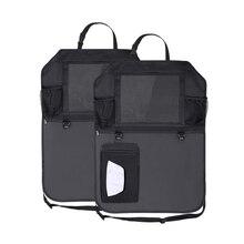 Автомобильное сиденье назад Органайзер Оксфорд укладка сумка-органайзер тканевая сумка автомобиль-Стайлинг анти-ребенок-Kick Pad автомобили интерьерные аксессуары