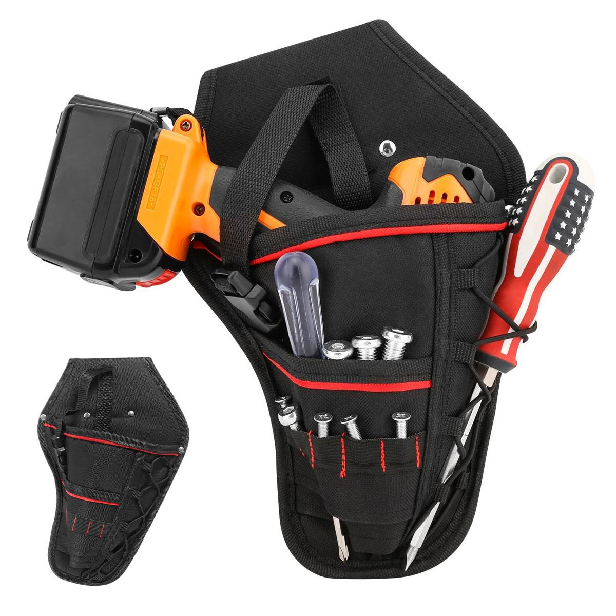 Cordless Electronic Drill Holster Tool Belt Pouch Adjustable Belt Storage Bag Tool Bag Pouch