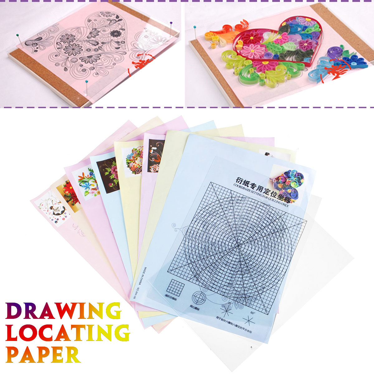 New 18PCS Quilling Tool DIY Release Drawing Locating Paper Craft Quilled Creations For Home Handmade Craft Paper Tool