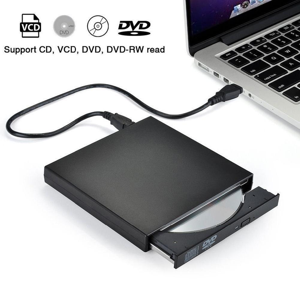 BEESCLOVER USB External DVD CD RW Disc Burner Combo Drive Reader For Windows 98/8/10 Laptop PC R20