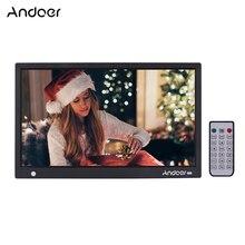 Andoer 15,6 дюймов 1920*1080 ips светодиодный цифровой фоторамка фотоальбом датчик движения MP3 MP4 часы календарь с пультом дистанционного управления